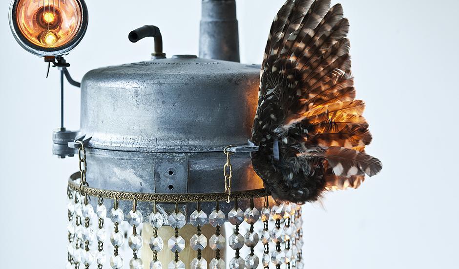 Bikebird - light sculpture